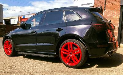 Recent Alloy Wheel Refurbishment Red Alloys